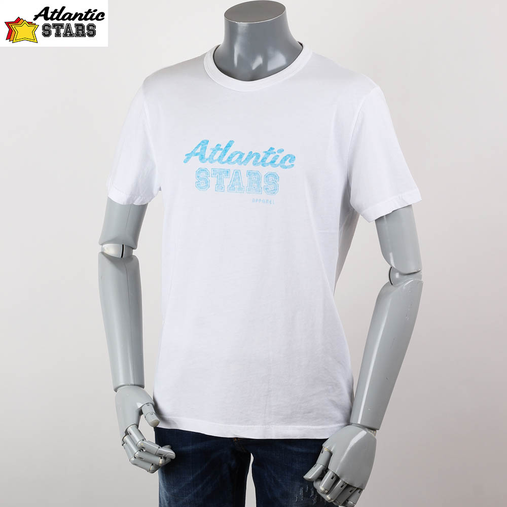 Atlantic STARS アトランティックスターズ プリント メンズ  Tシャツ ホワイト 2018ss ams1848の画像