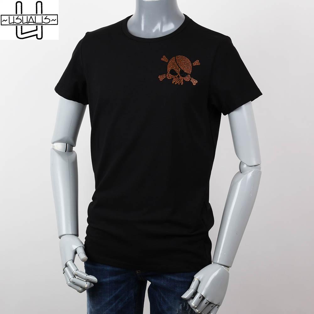 USAULIS ウザリス ラインストーン メンズ  Tシャツ ブラック 2018ss us180-4424の画像