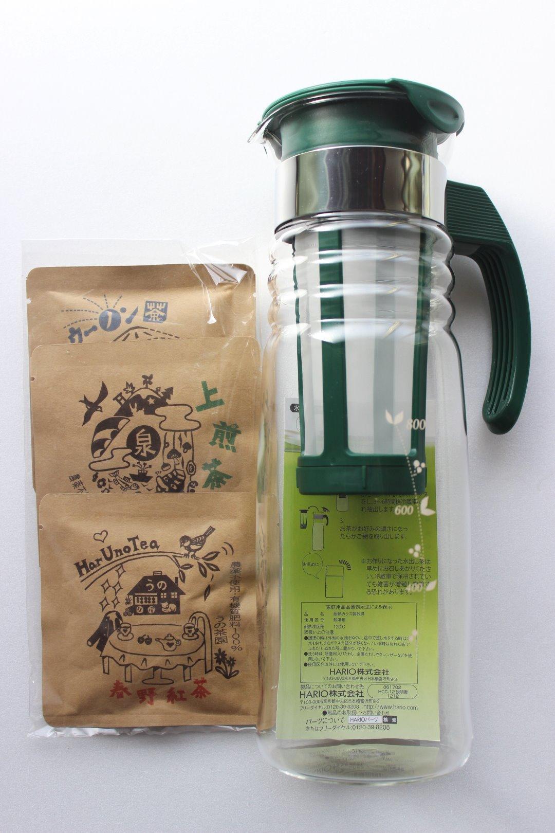 冷茶ポット(お試し茶3点セット付)画像