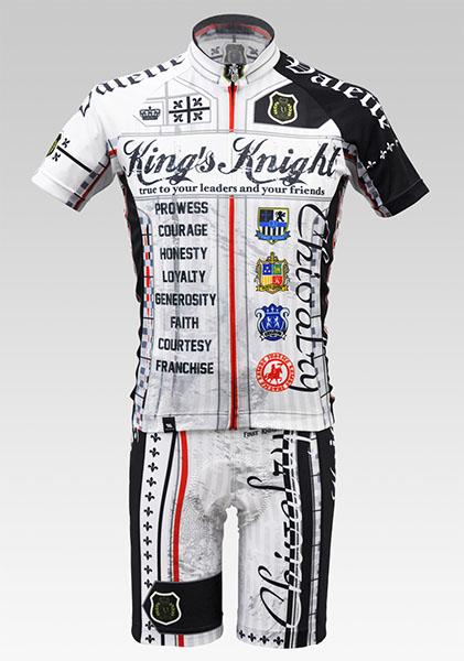【VALETTE/バレット】King's Knight White(キングスナイト ホワイト) 半袖【サイクルジャージ/サイクルウェア/自転車/レプリカ/サイクル/ロードバイク/ウェア/ユニフォーム】の画像