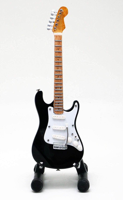 15cm ミニチュア ギター フィギュア リッチーブラックモア トリビュート ST スタイル 画像