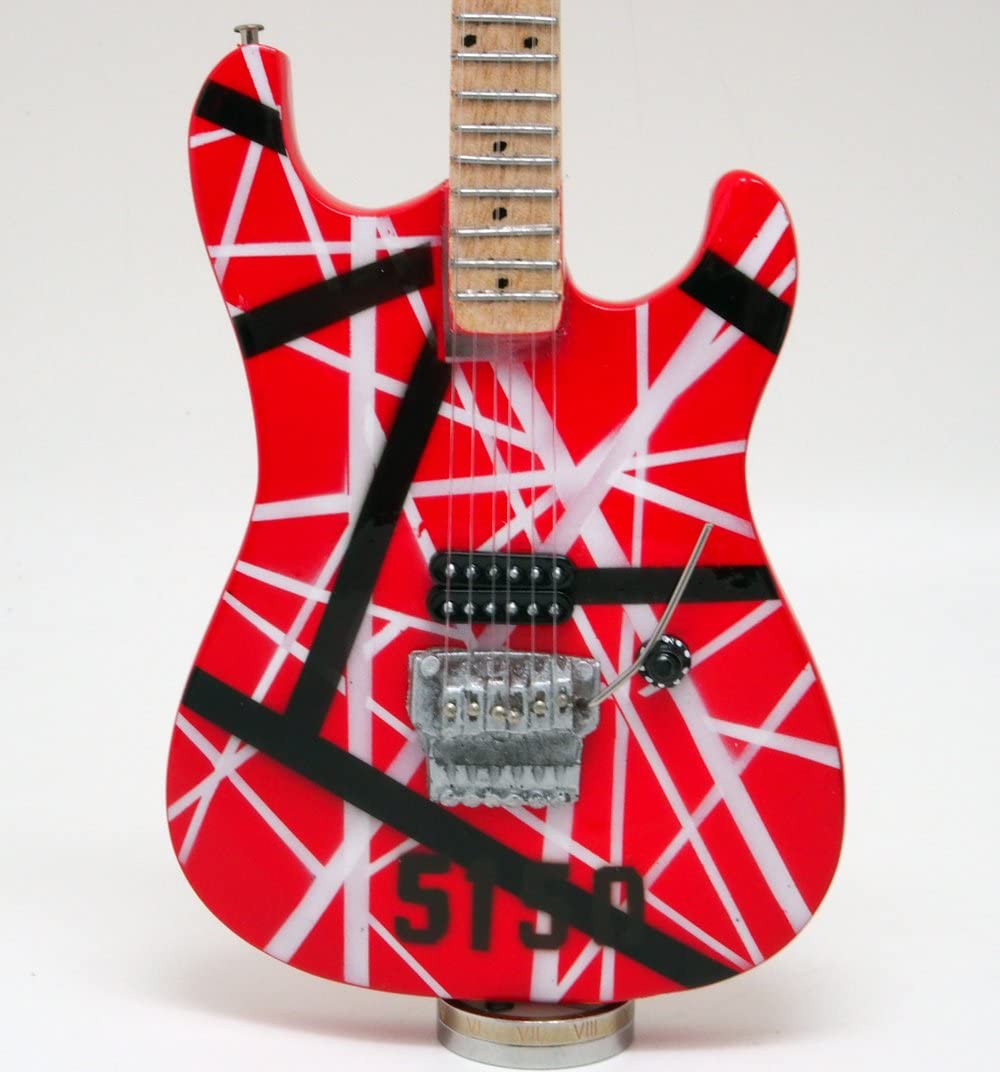 E-MODEL ミニチュア ギター エドワード ヴァン ヘイレン 5150 ストラトキャスター スタイル画像
