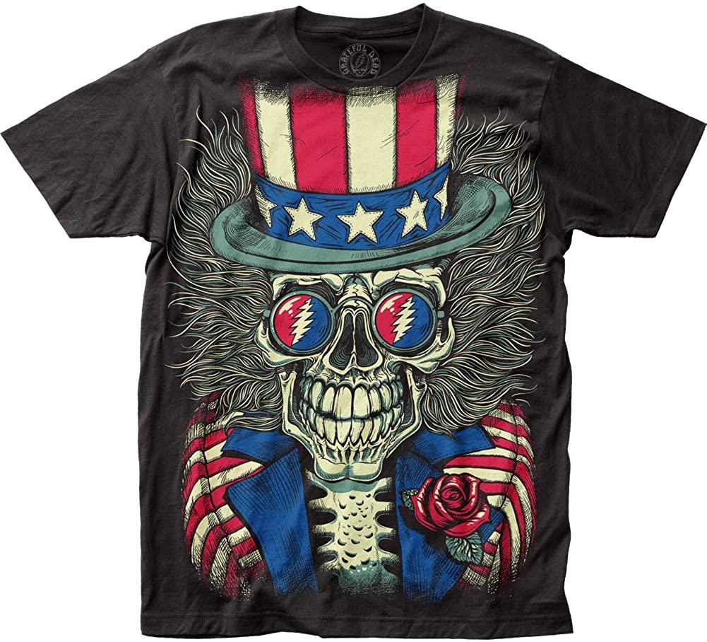 グレイトフル デッド Grateful Dead Patriotic Skelly Big Print Subway Tシャツ 【オフィシャル/公式】画像