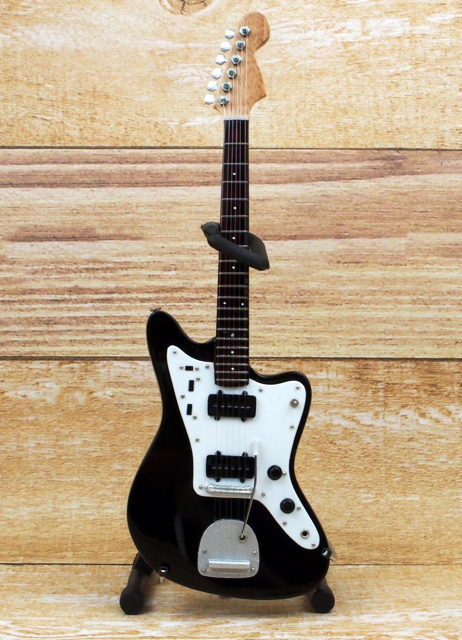 Musical Story ミニチュア ギター フィギュア JM スタイル ブラックカラー 画像