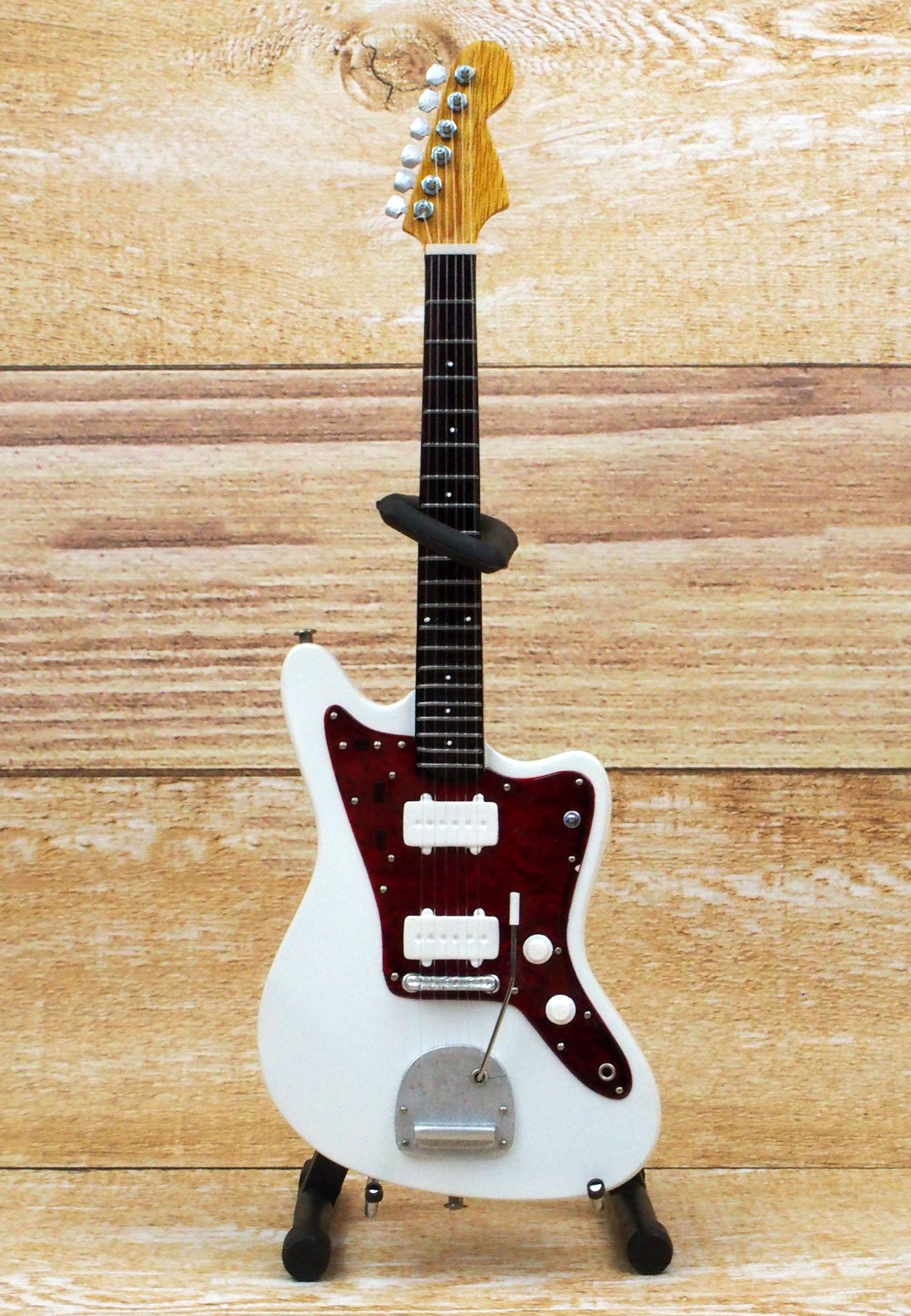 Musical Story ミニチュア ギター フィギュア 60's JM スタイル ホワイトカラー 画像