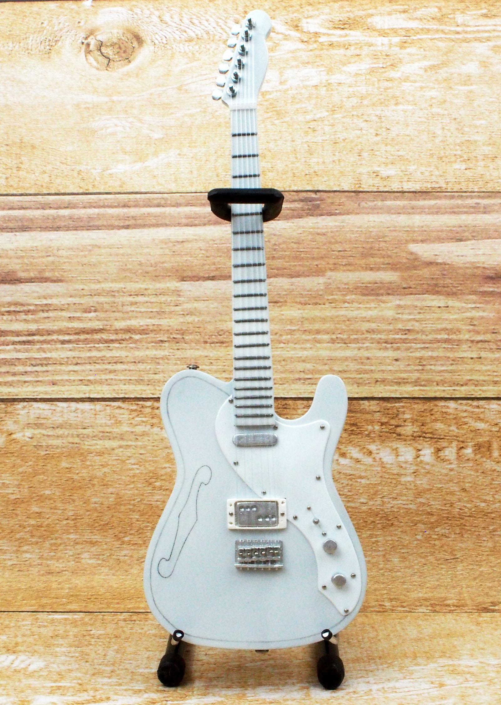 Musical Story ミニチュア ギター フィギュア TL スタイル ホワイトカラー画像