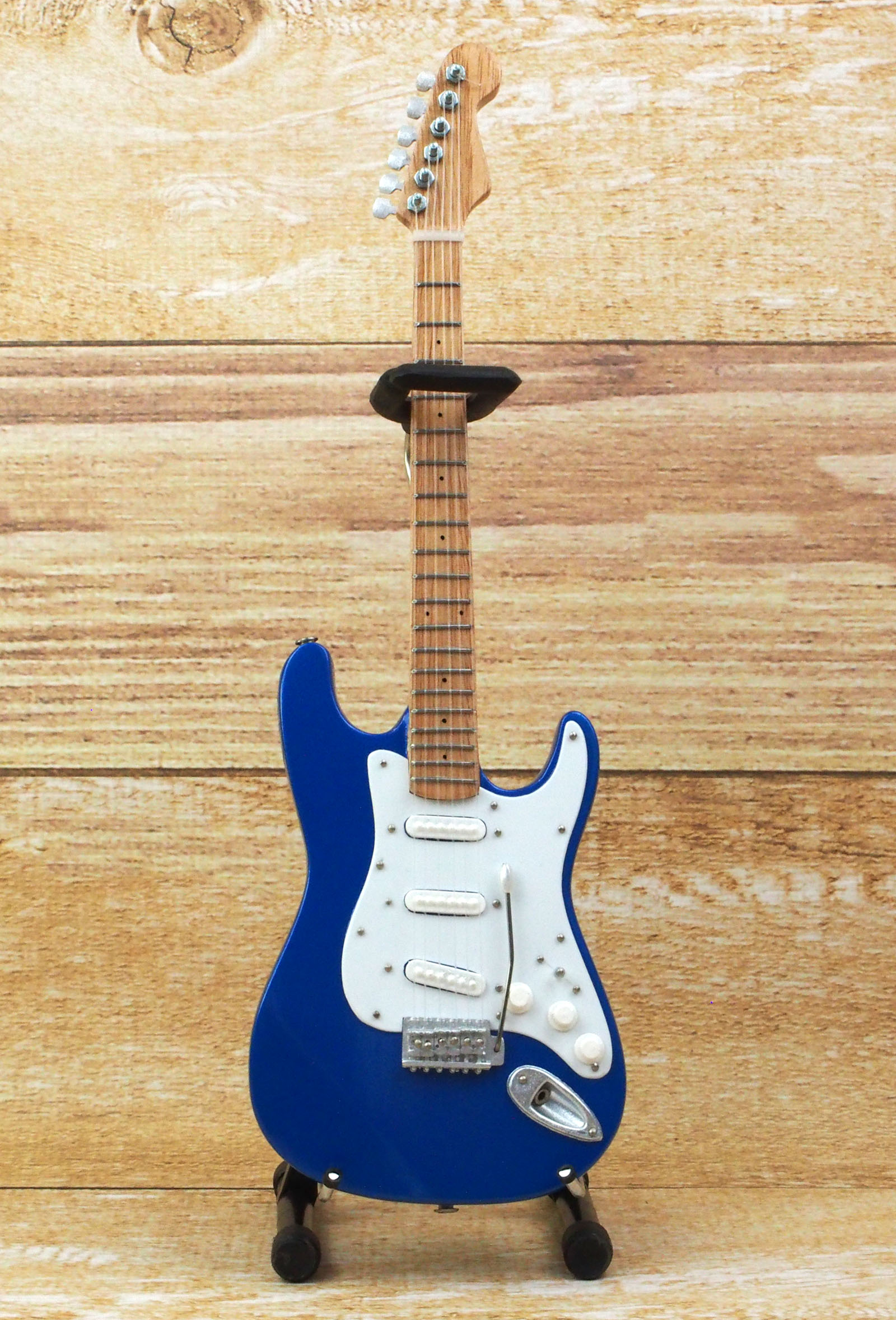 Musical Story ミニチュア ギター フィギュア アメリカン ストラトキャスター コブラ ブルー スタイル画像