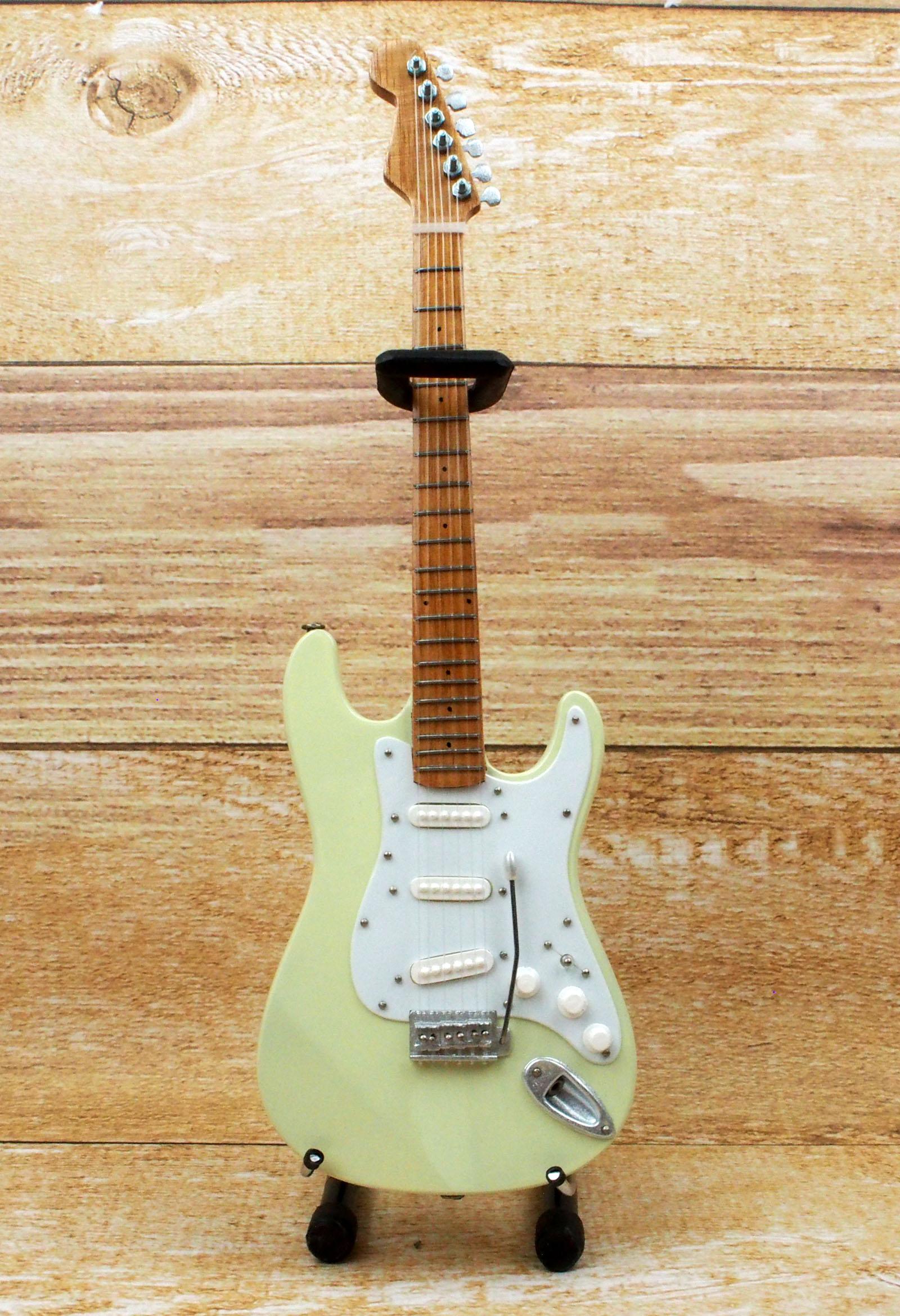 Musical Story ミニチュア ギター フィギュア ジミ ヘンドリックス ST スタイル ホワイト画像