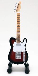 15cm ミニチュア ギター フィギュア テレキャスター スタイル サンバースト
