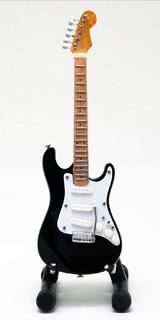 15cm ミニチュア ギター フィギュア リッチーブラックモア トリビュート ST スタイル