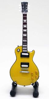 15cm ミニチュア ギター フィギュア 1999 Canary Yellow レスポール スタイル