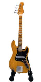 15cm ミニチュア ギター フィギュア ジャズ ベース ナチュラル ウッド