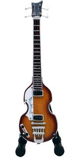 15cm ミニチュア ギター フィギュア ビートルズ ポールマッカートニー ヘフナー バイオリン ベース