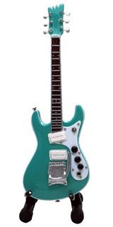 15cm ミニチュア ギター フィギュア モズライト グリーン