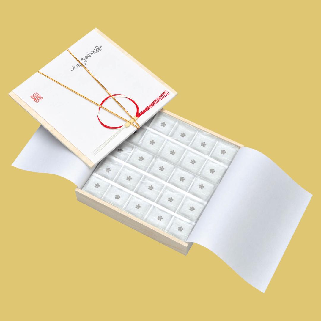 山田屋まんじゅう 木箱25個入 密封包装 賞味期限30日画像