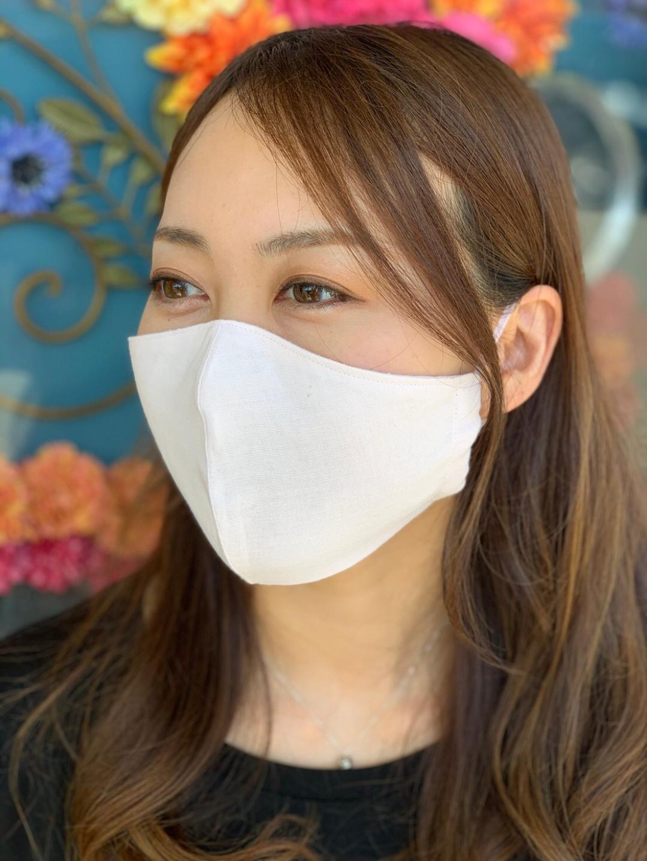 【抗菌防臭加工】国産ダブルガーゼ不織布フィルターポケット付き立体マスク(ノーズワイヤーなし)アイスピンク画像