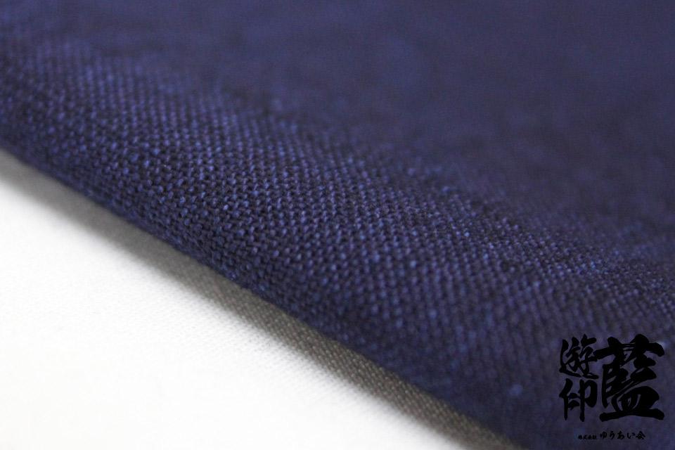 藍染生地測り売り・・・<16/-紬織>画像