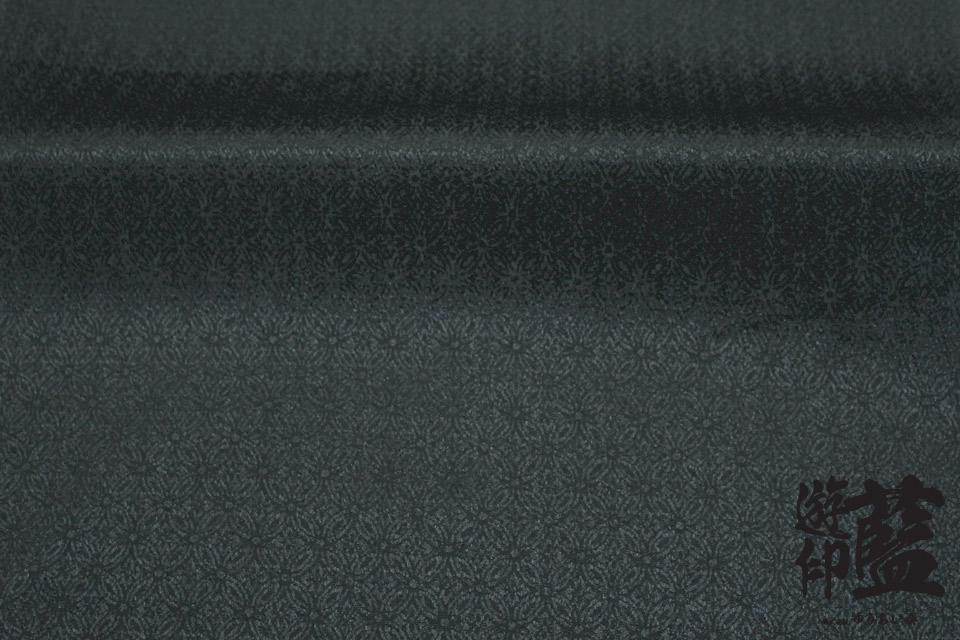 ポリエステルチリメンジャガード40cm単位売り・・・<シッポウ 06ブラック>画像
