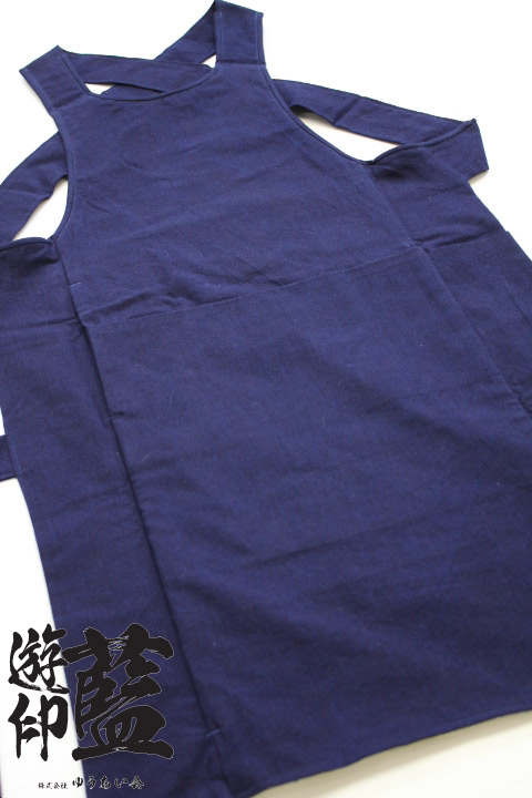 【藍染】<龍虎> 腹掛 平織(遠州正藍染)の画像