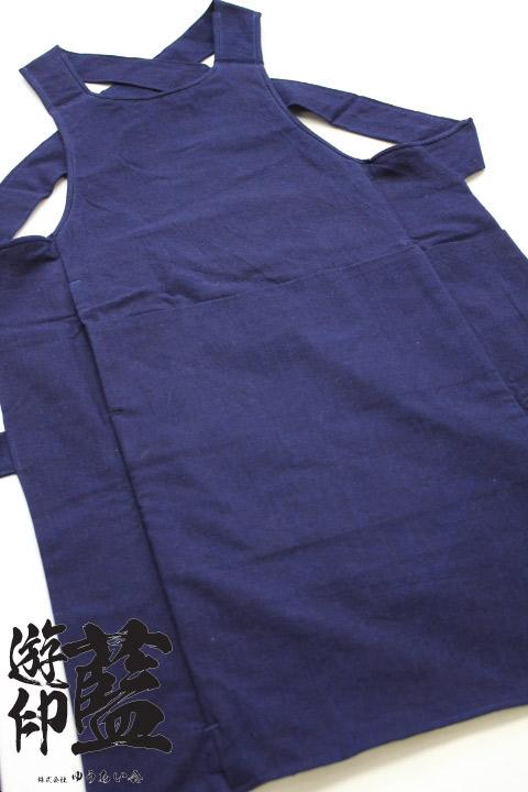 【藍染】<龍虎> 腹掛 平織(遠州正藍染)画像