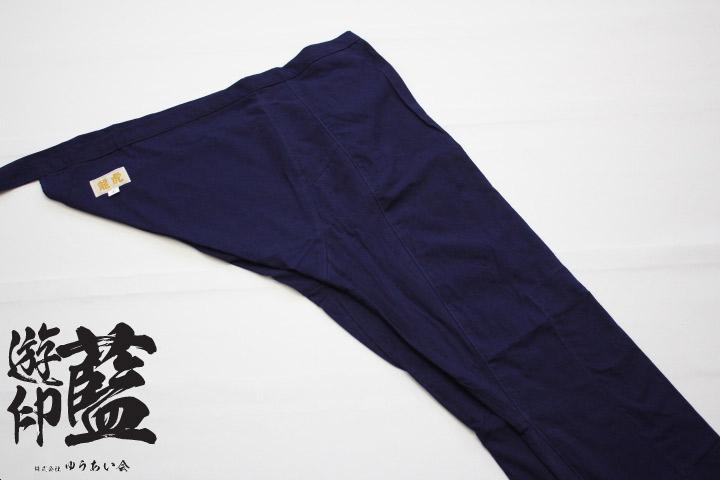 【藍染】<龍虎> 股引 平織(遠州正藍染)の画像