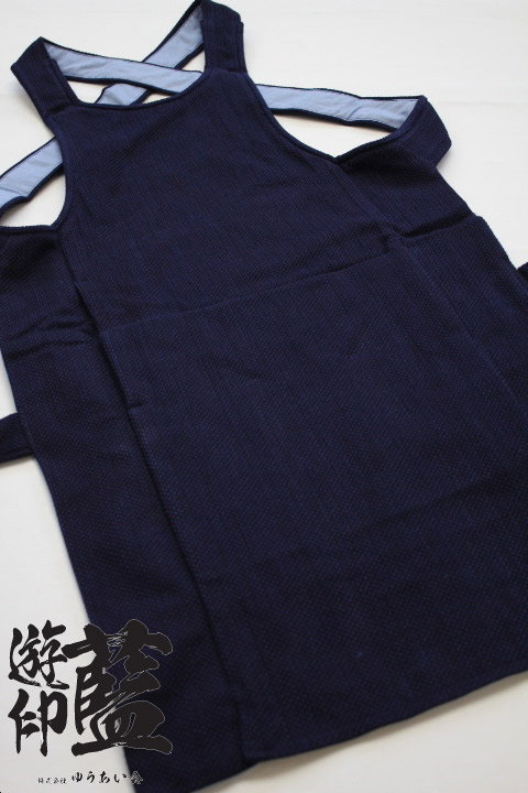 【藍染】<龍虎> 腹掛 一重織刺子(遠州正藍染)画像