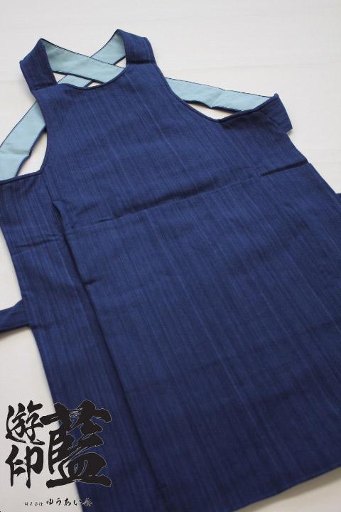 【藍染】腹掛 やたら縞(武州正藍染浅葱縞)の画像