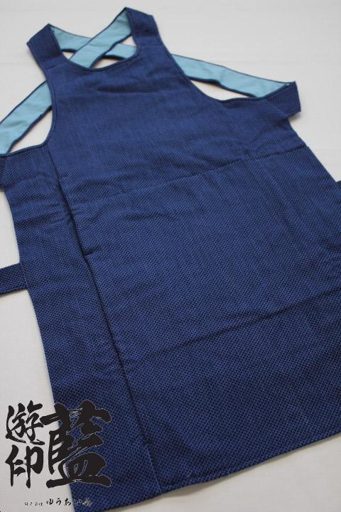 【藍染】腹掛 浅葱一本刺子画像