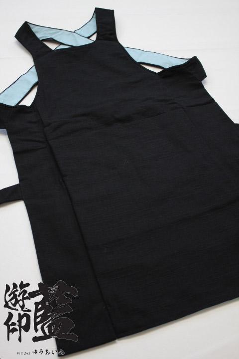 【黒】腹掛 紬の画像