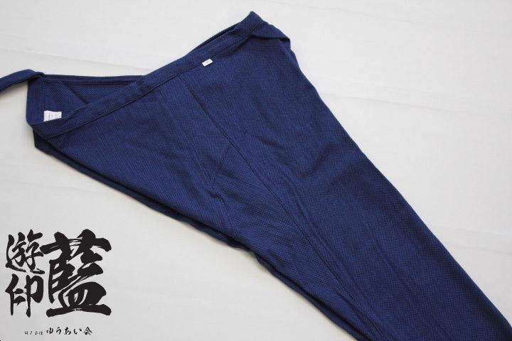 【藍染】股引 浅葱一本刺子画像