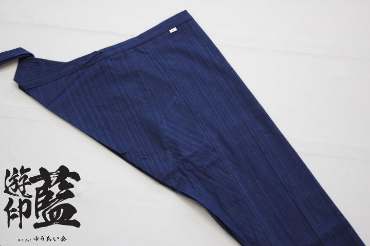 【藍染】股引 やたら縞(武州正藍染浅葱縞)画像