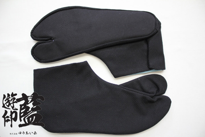 【黒】岡足袋 刺子<4枚コハゼ>の画像