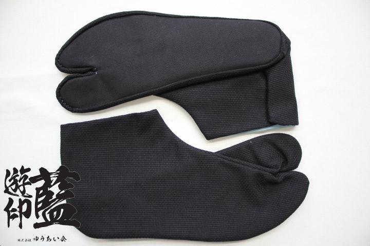 【黒】岡足袋 刺子<4枚コハゼ>画像