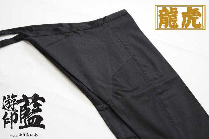 【黒】<龍虎>股引 黒朱子画像